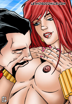Iron Man enjoys the hard nipples