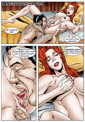 Logan licks wet pussy