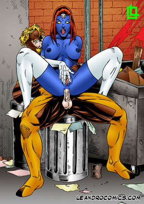 Mystique and Sabertooth fucking hard